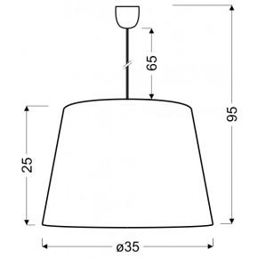 Lampy-sufitowe - lampa wisząca różowa z serduszkiem sweet junior 31-07179 candellux