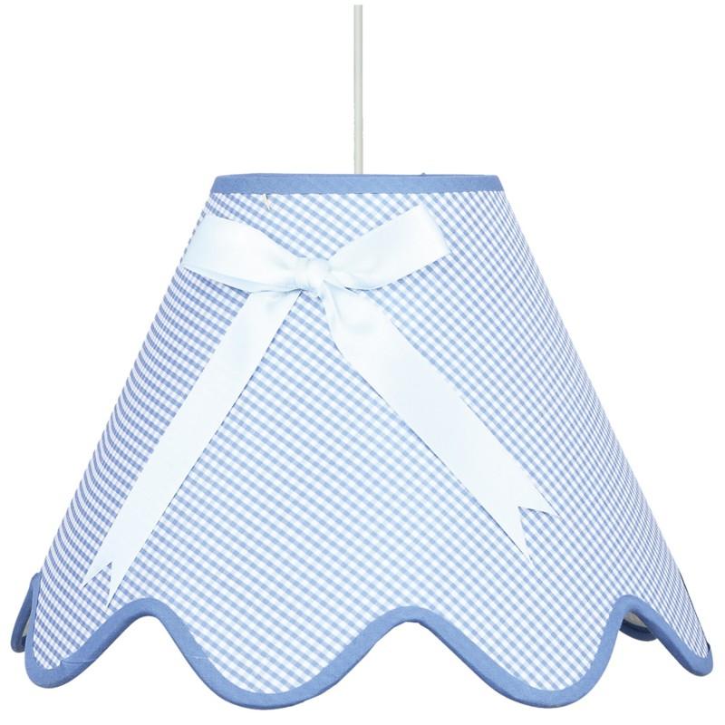 Lampy-sufitowe - niebieska lampa wisząca z kokardką 1x60w e27 lola 31-04666 candellux firmy Candellux