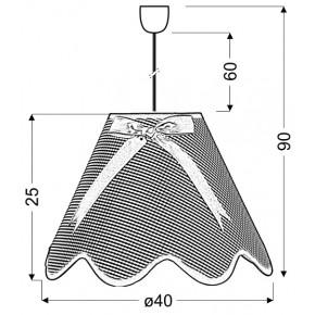 Lampy-sufitowe - lampa wisząca fioletowa na żarówkę e27 1x60w lola 31-14573 candellux