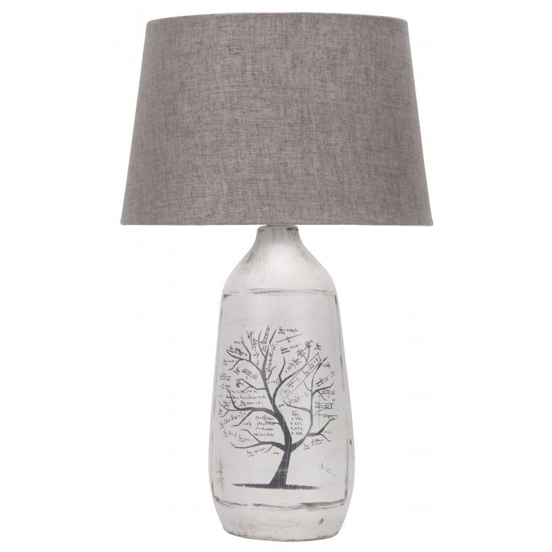 Lampki-nocne - szara lampka z motywem drzewa walia e27 60w 41-39187 candellux firmy Candellux