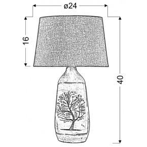 Lampki-nocne - szara lampka z motywem drzewa walia e27 60w 41-39187 candellux