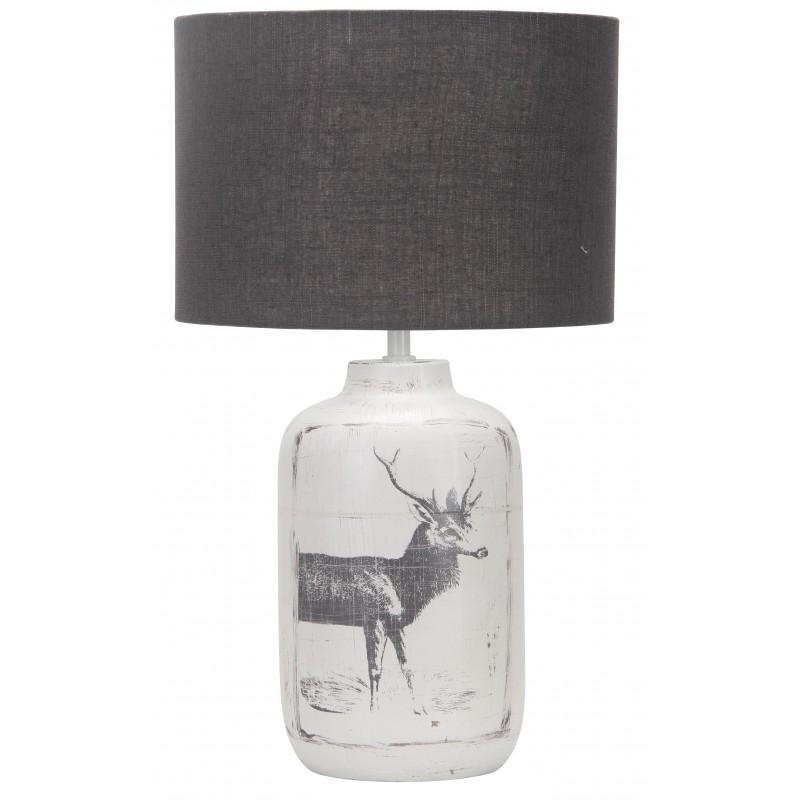 Lampki-biurkowe - postarzana lampka stołowa z motywem zwierzęcym walia e27 41-39194 candellux firmy Candellux