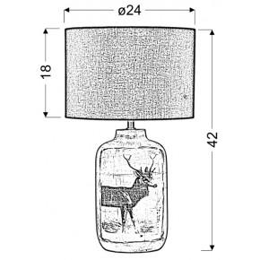 Lampki-biurkowe - postarzana lampka stołowa z motywem zwierzęcym walia e27 41-39194 candellux
