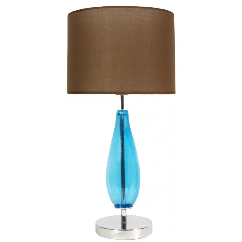 Lampki-nocne - brązowo-niebieska lampka gabinetowa 1x60w e27 h-57 marrone 41-01269 candellux firmy Candellux