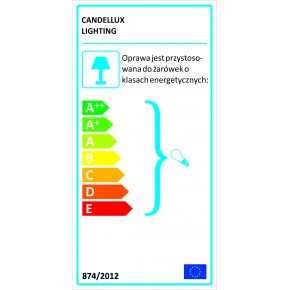 Lampki-nocne - brązowo-niebieska lampka gabinetowa 1x60w e27 h-57 marrone 41-01269 candellux