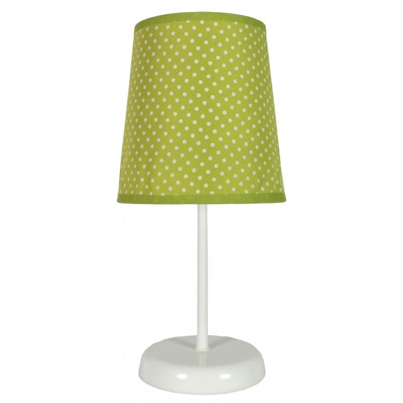 Lampki-nocne - klasyczna lampa stołowa zielona w kropki 1x40w e14 gala 41-98262 candellux firmy Candellux