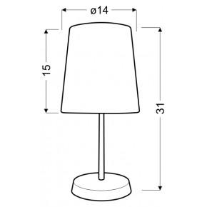 Lampki-nocne - klasyczna lampa stołowa zielona w kropki 1x40w e14 gala 41-98262 candellux