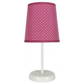 Lampki-nocne - fuksjowa lampa stołowa w kropki 1x40w e14 gala 41-98279 candellux