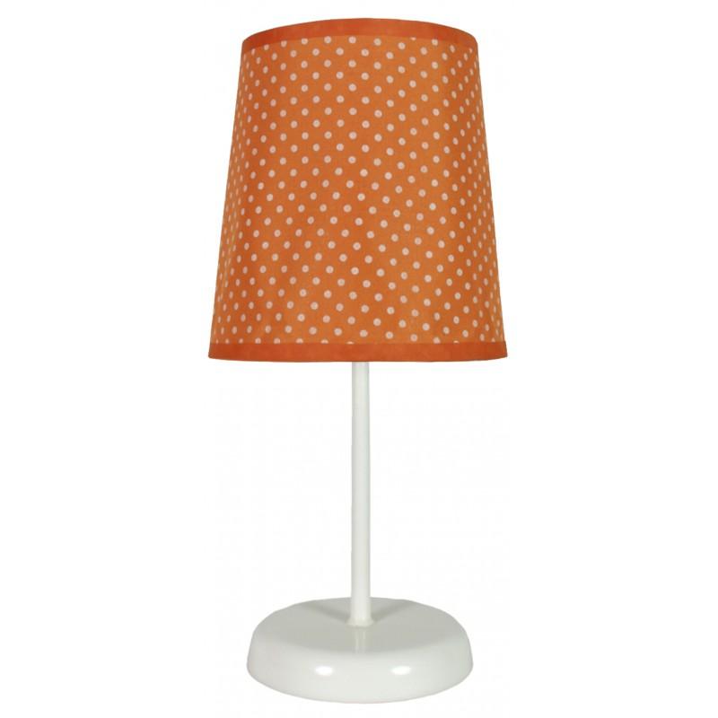 Oswietlenie - lampa stołowa pomarańczowa w białe kropki 1x40w e14 gala 41-98286 candellux firmy Candellux