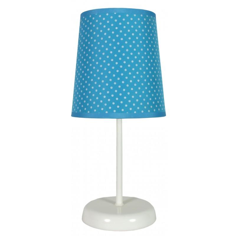 Lampki-nocne - efektowna niebieska lampa stołowa 1x40w e14 gala 41-98293 candellux firmy Candellux