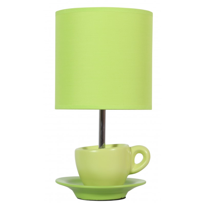 Lampki-nocne - lampka gabinetowa filiżanka pistacjowa e27 cynka 41-34830 candellux firmy Candellux