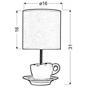 Lampki-nocne - lampka gabinetowa filiżanka pistacjowa e27 cynka 41-34830 candellux
