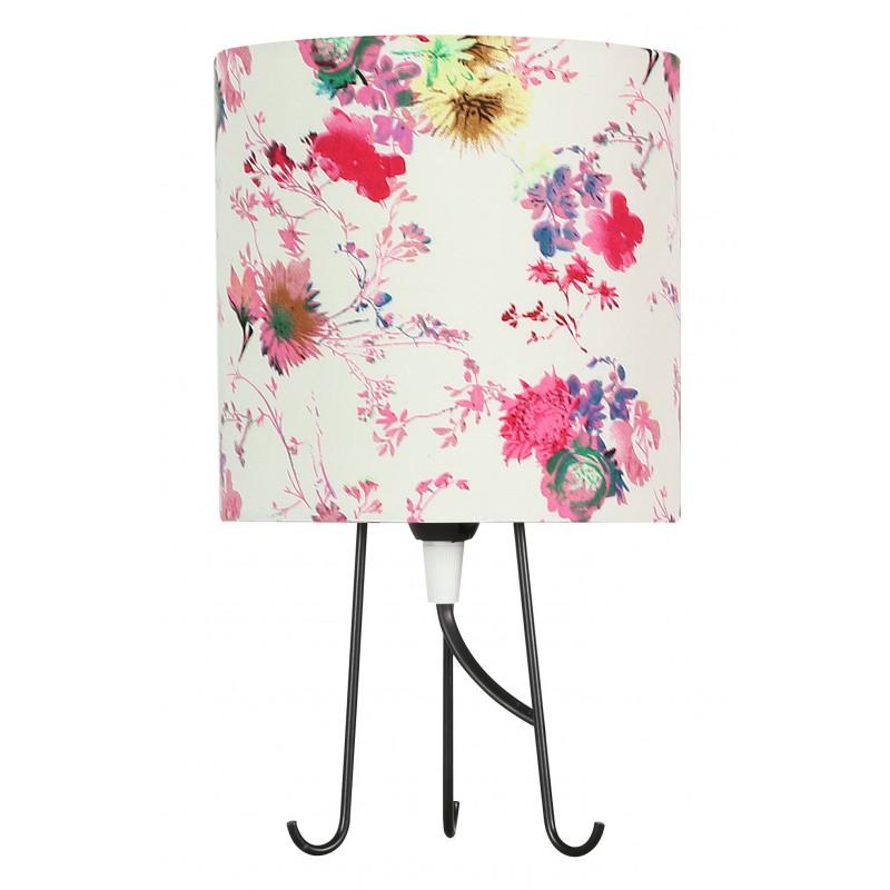 Lampki-nocne - lampa stołowa kwiaty różowe + 1x40w e14 41-34731 micra candellux firmy Candellux