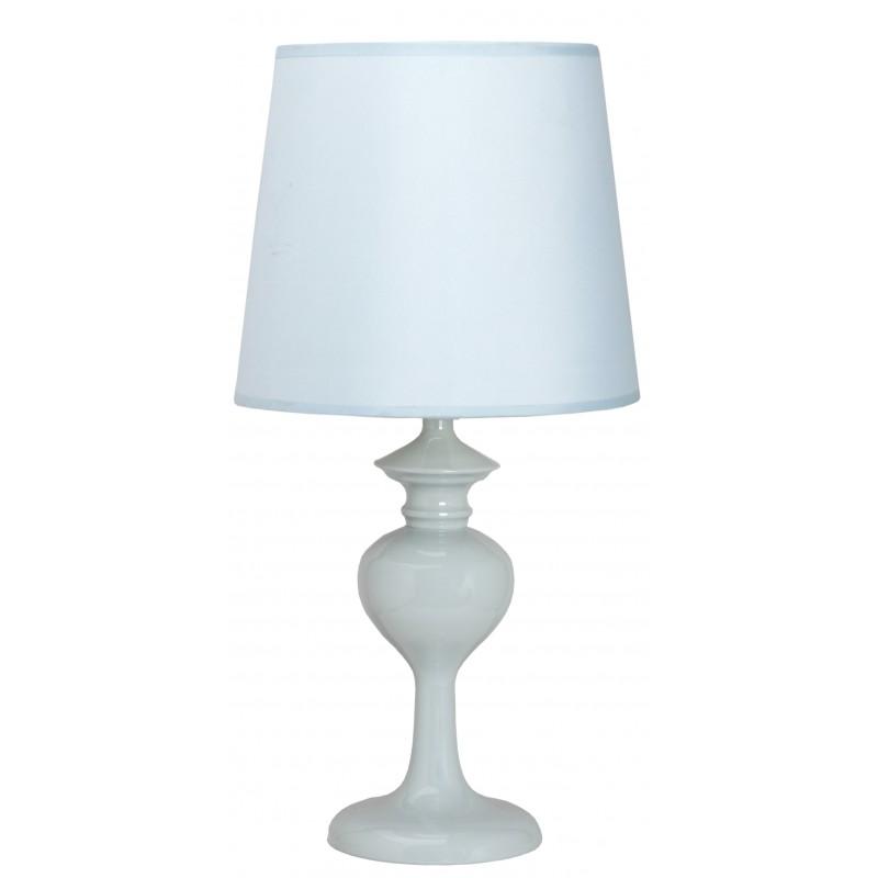 Lampki-nocne - lampa stołowa w delikatny błękitnym kolorze 1x40w e14 berkane 41-11749 candellux firmy Candellux