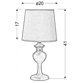 Lampki-nocne - lampa stołowa w delikatny błękitnym kolorze 1x40w e14 berkane 41-11749 candellux