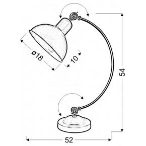 Lampki-biurkowe - biała lampka na biurko w stylu retro e27 40w old 41-27931 candellux