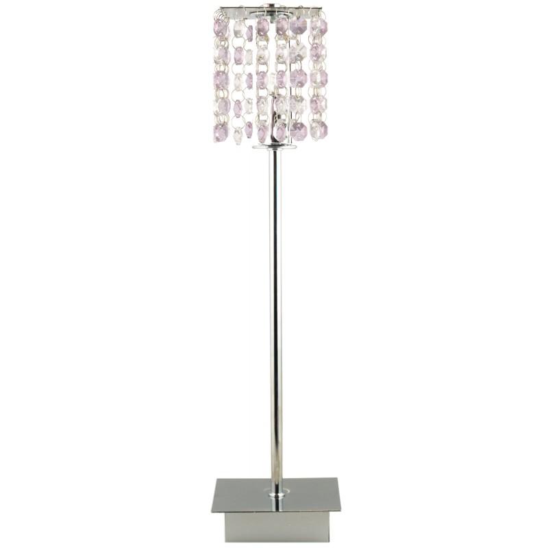 Lampki-biurkowe - lampa stołowa ze zwisającymi kryształkami 1x40w g9 classic 41-59584 candellux firmy Candellux