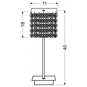 Lampki-biurkowe - lampa stołowa ze zwisającymi kryształkami 1x40w g9 classic 41-59584 candellux