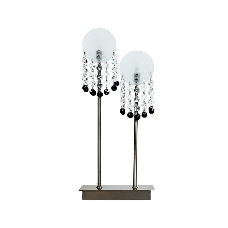 Lampki-nocne - podwójna lampa gabinetowa chromowa 2x20w g4 luxor 42-02801 candellux firmy Candellux
