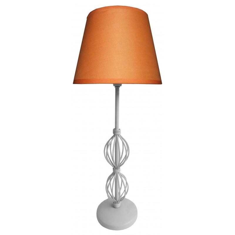 Oswietlenie - lampa na stolik z pomarańczowym abażurem rosette 41-99580 candellux firmy Candellux