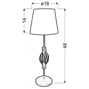 Oswietlenie - lampa na stolik z pomarańczowym abażurem rosette 41-99580 candellux