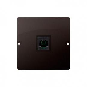 Gniazdo telefoniczne pojedyncze RJ11 czekoladowy mat BMTU.01/47 Simon Basic Kontakt-Simon