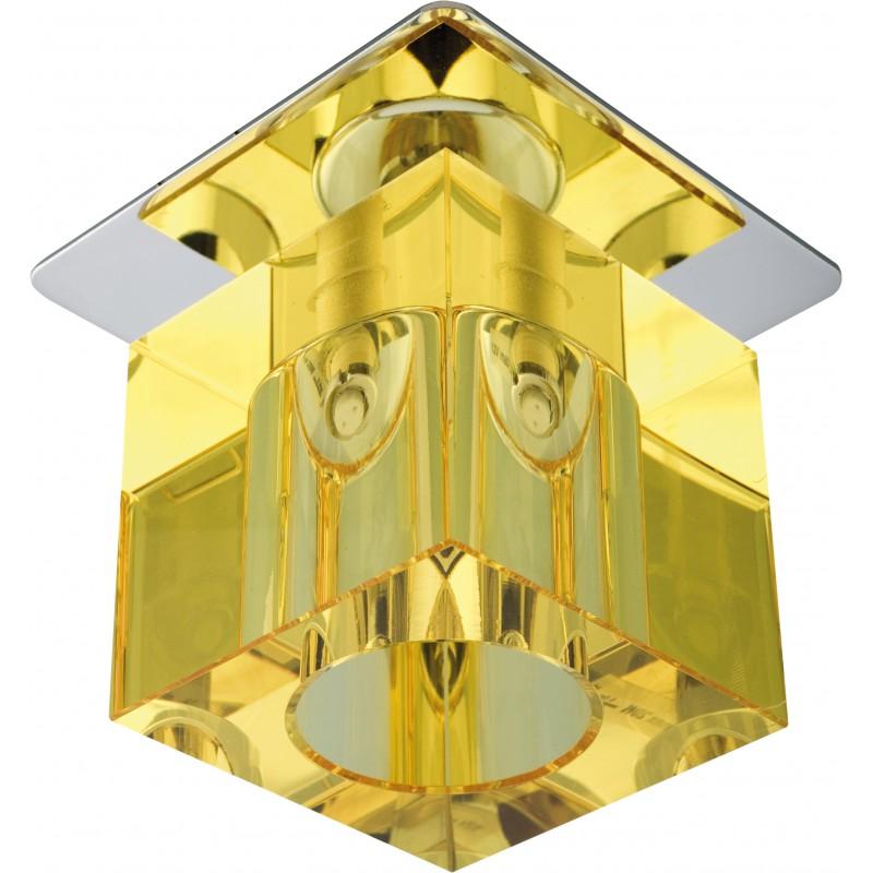 Oprawy-sufitowe-stale - oprawa sufitowa żółta chrom g4 sk-19 2279964 candellux firmy Candellux