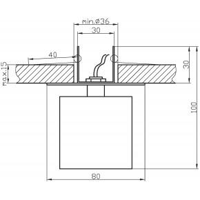 Oprawy-sufitowe-stale - oprawka sufitowa sk-19 pomarańcz g4 12v 2280038 candellux