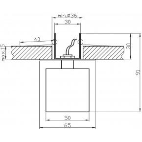 Oprawy-sufitowe-stale - sufitowa oprawka punktowa żółty kryształ g4 sk-18 2280083 candellux