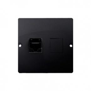 Gniazdo telefoniczne pojedyncze RJ12 grafit mat BMT1.02/28 Simon Basic Kontakt-Simon