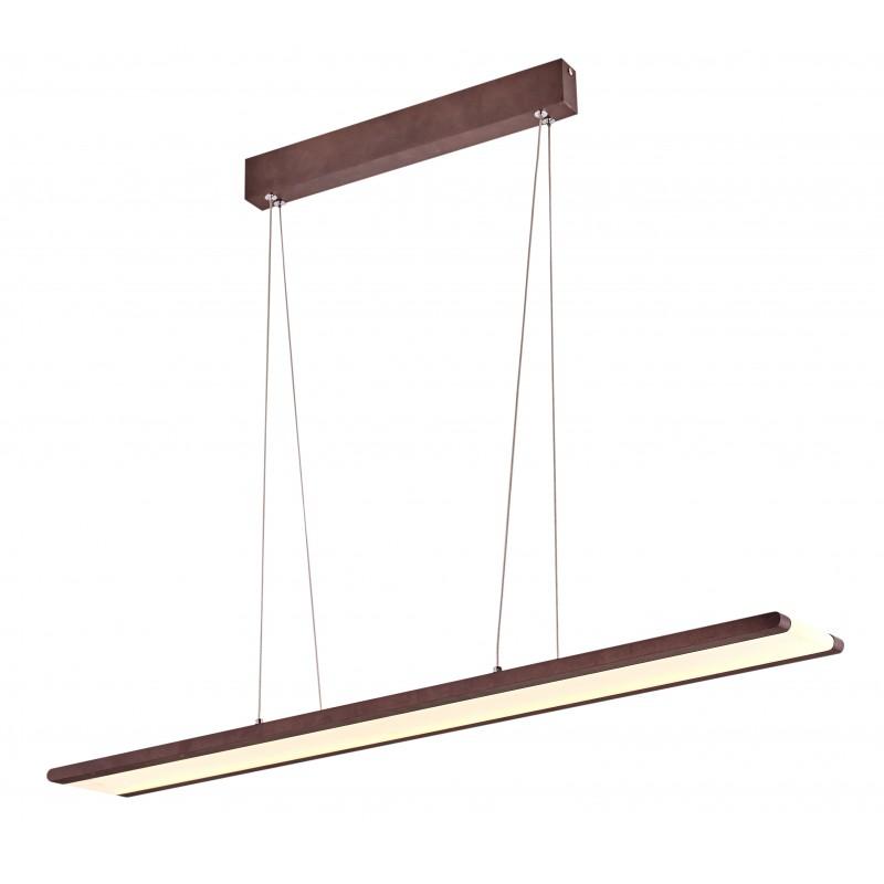 Lampy-sufitowe - wisząca lampa sufitowa brązowa led coconut 91x8 28w 4000k apeti a0010-311 candellux firmy Candellux