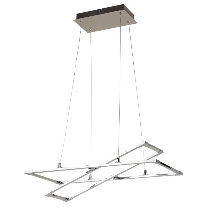 Lampy-sufitowe - srebrno- szara lampa wisząca kwadrat kseros led 60x30 35w 4000k apeti a0033-320 candellux firmy Candellux