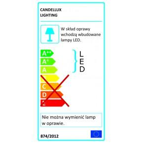 Lampy-sufitowe - srebrno- szara lampa wisząca kwadrat kseros led 60x30 35w 4000k apeti a0033-320 candellux