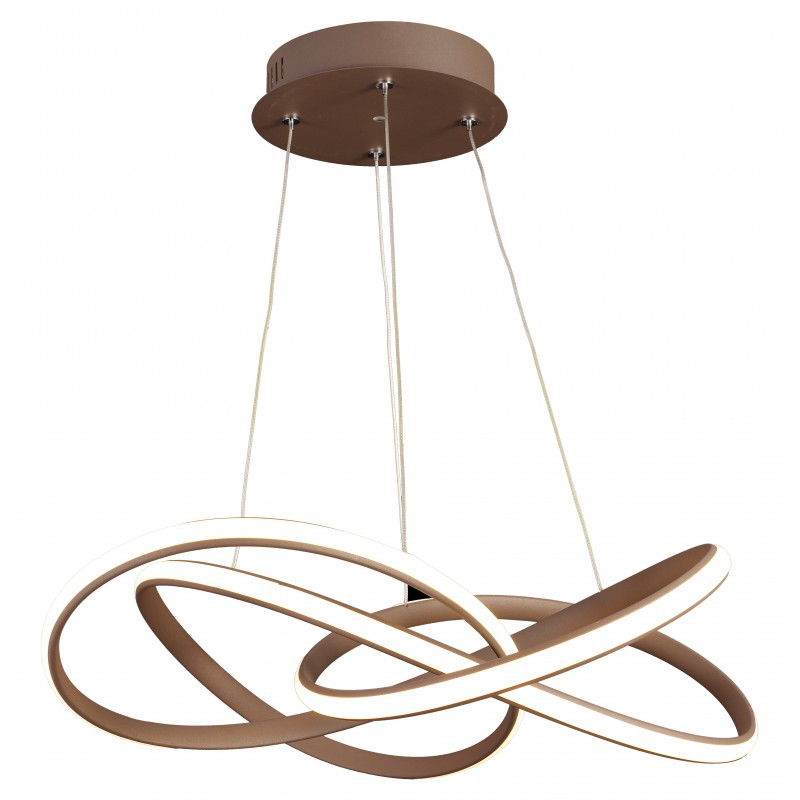 Lampy-sufitowe - brązowa lampa wisząca led douglas 58 40w led 4000k apeti a0005-310 candellux firmy Candellux
