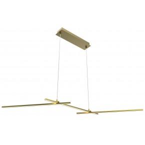 Lampy-sufitowe - złota lampa wisząca led o ciepłej barwie 3x23 23w 4000k apeti a0021-331 candellux