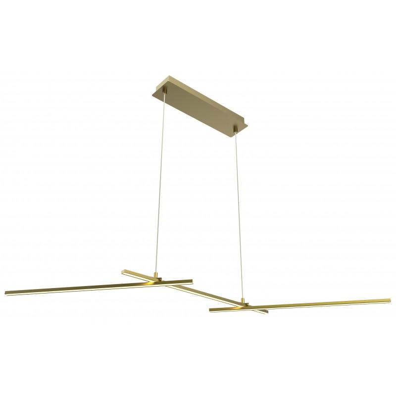 Lampy-sufitowe - złota lampa wisząca led o ciepłej barwie 3x23 23w 4000k apeti a0021-331 candellux firmy Candellux