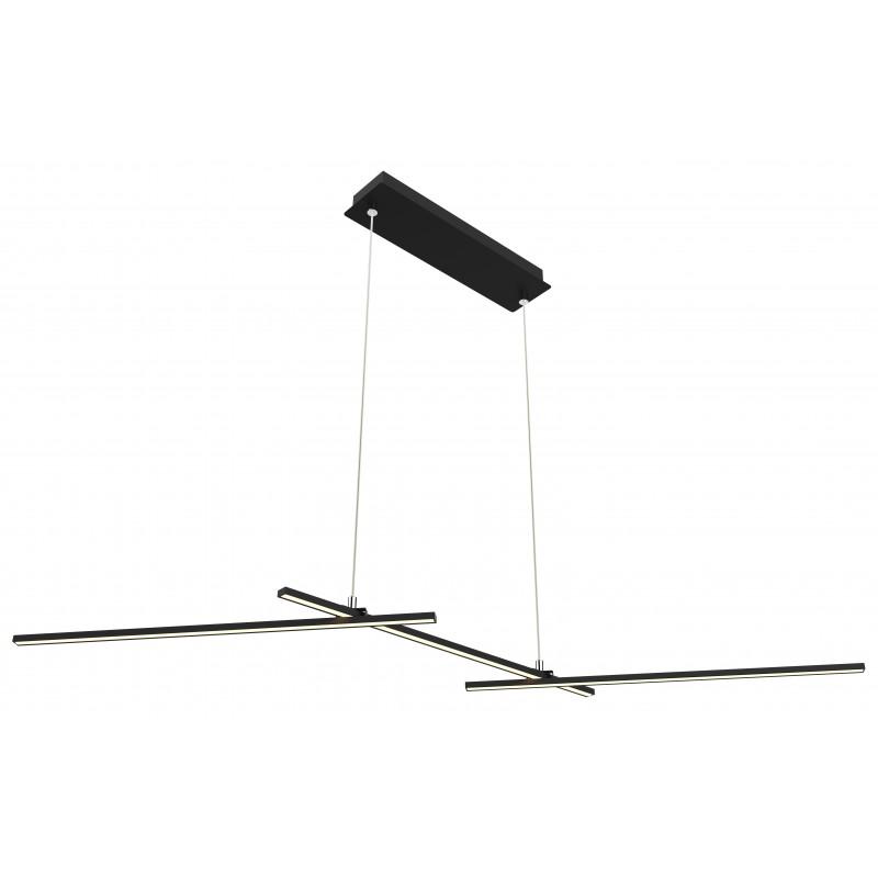 Lampy-sufitowe - czarna stylowa lampa wisząca led thasos 103x23 23w 4000k apeti a0021-332 candellux firmy Candellux