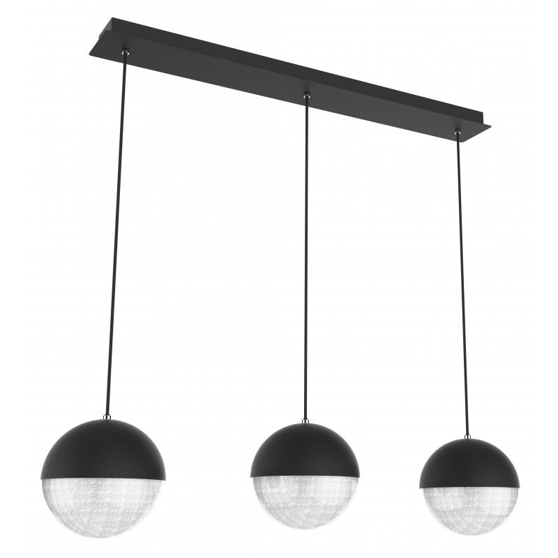 Lampy-sufitowe - lampa sufitowa czarna trzy kule led 70x15 3x5w 4000k apeti a0031-330 candellux firmy Candellux