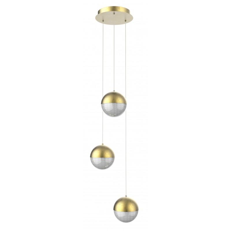 Lampy-sufitowe - złota lampa sufitowa talerz led furni 3x5w 4000k apeti a0031-331 candellux firmy Candellux