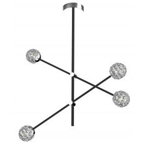 Lampy-sufitowe - czarna lampa sufitowa z kryształkami 4xmax 5w g9 apeti a0032-341 candellux