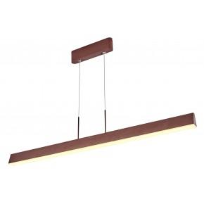 Lampy-sufitowe - brązowa lampa sufitowa led coconut 100x8 28w 4000k apeti a0010-310 candellux