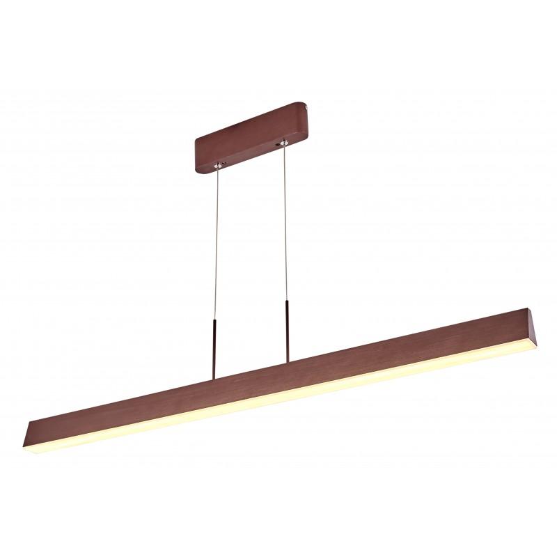 Lampy-sufitowe - brązowa lampa sufitowa led coconut 100x8 28w 4000k apeti a0010-310 candellux firmy Candellux