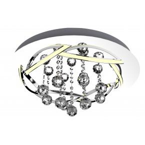 KORFU LAMPA SUFITOWA PLAFON 50 30W LED CHROMOWY 4000K APETI