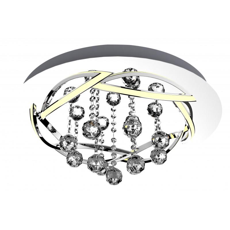 Plafony - chromowana lampa sufitowa led korfu 50 30w 4000k apeti a0016-160 candellux firmy Candellux