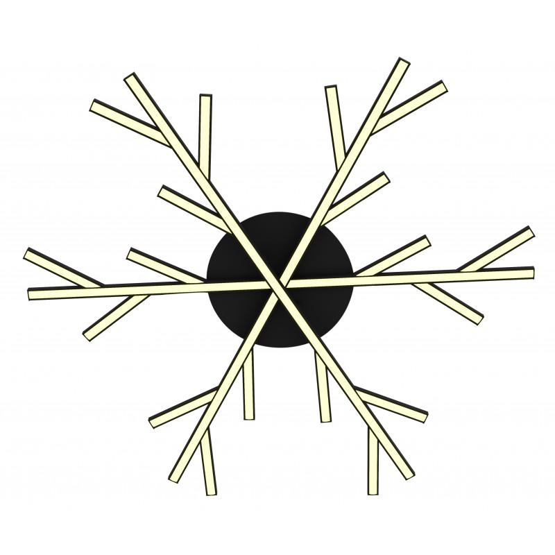 Lampy-sufitowe - lampa sufitowa led czarna samos 70 40w 4000k apeti a0017-130 candellux firmy Candellux