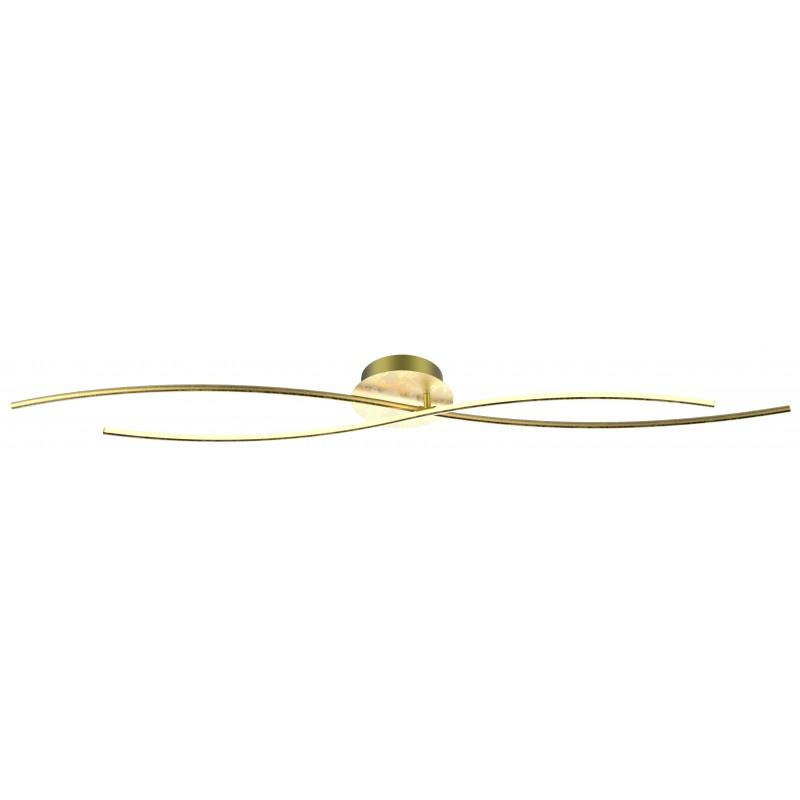 Plafony - złota lampa sufitowa led zakintos 110x18 25w 4000k apeti a0019-120 candellux firmy Candellux
