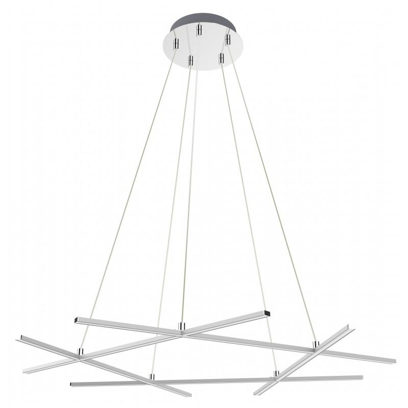 Lampy-sufitowe - lampa wisząca chromowa led andros 82x78 50w 4000k apeti a0020-350 candellux firmy Candellux