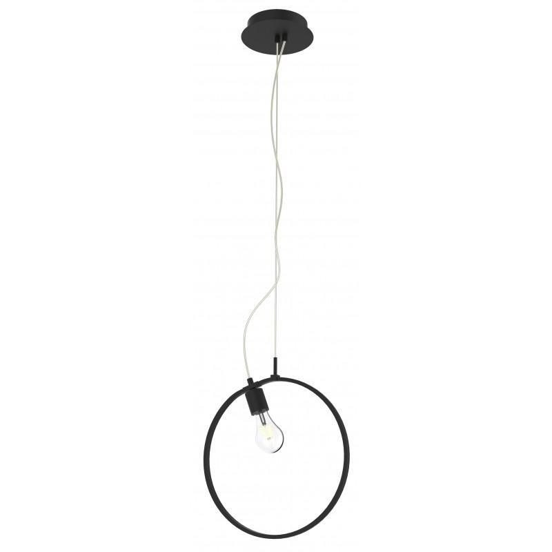 Lampy-sufitowe - lampa wisząca czarna koło led + żarówka e27 apeti a0024-321 candellux firmy Candellux