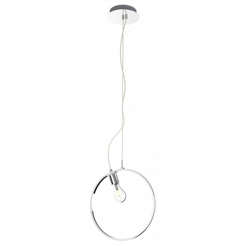 Lampy-sufitowe - lampa wisząca koło led chromowy + e27 apeti a0024-320 candellux firmy Candellux