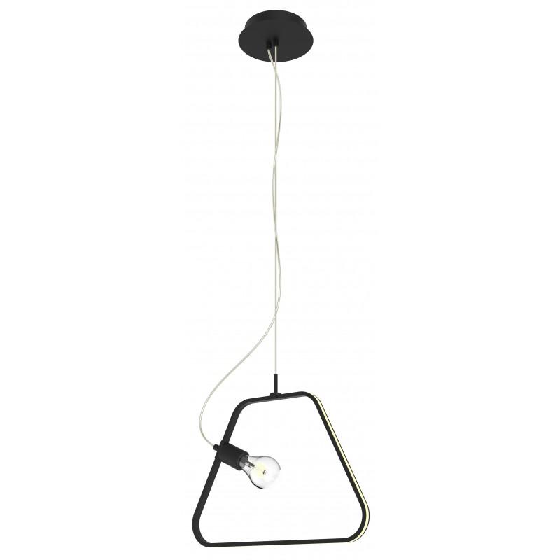 Lampy-sufitowe - lampa wisząca czarna w formie trapezu ikaria 42 1x60w e27 led+12w 4000k apeti a0023-321 candellux firmy Candellux